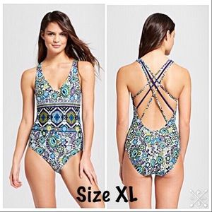 Mossimo One piece strappy back swimsuit.